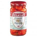 Červené chilli papričky Delicias 106 ml 45g