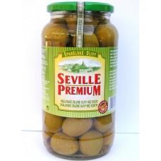 Královské velké zelené olivy bez pecky