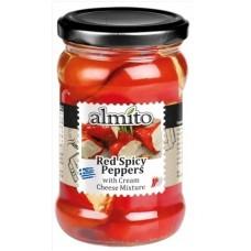 Pikantní červené papričky plněné sýrem 270g